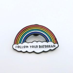 Jewelry - Follow your daydream enamel pin rainbow cloud